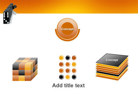 Dominoes Falling Effect PowerPoint Template Slide 19