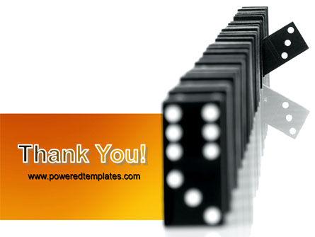 Dominoes Falling Effect PowerPoint Template Slide 20