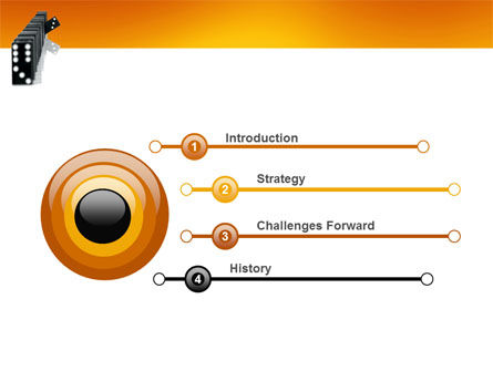 Dominoes Falling Effect PowerPoint Template Slide 3