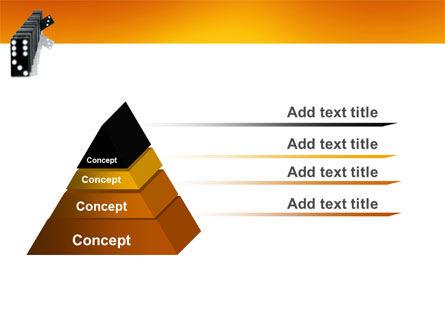 Dominoes Falling Effect PowerPoint Template Slide 4