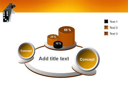 Dominoes Falling Effect PowerPoint Template Slide 6
