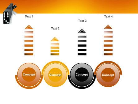 Dominoes Falling Effect PowerPoint Template Slide 7