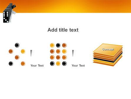 Dominoes Falling Effect PowerPoint Template Slide 9