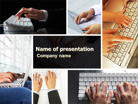 Keyboarding PowerPoint Template, 05639, Technology and Science — PoweredTemplate.com