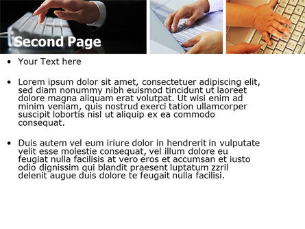 Keyboarding PowerPoint Template, Slide 2, 05639, Technology and Science — PoweredTemplate.com