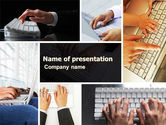 Technology and Science: Templat PowerPoint Keyboarding #05639