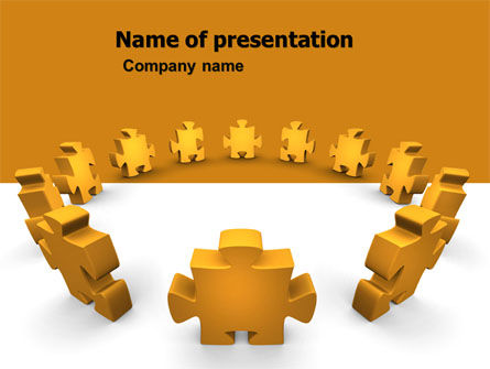 Yellow Jigsaw PowerPoint Template