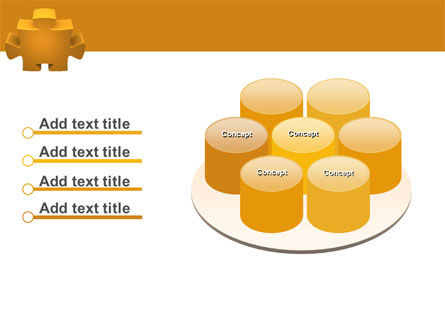 Yellow Jigsaw PowerPoint Template Slide 12