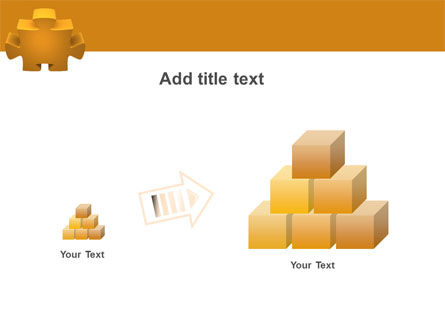 Yellow Jigsaw PowerPoint Template Slide 13