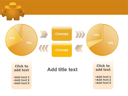 Yellow Jigsaw PowerPoint Template Slide 16