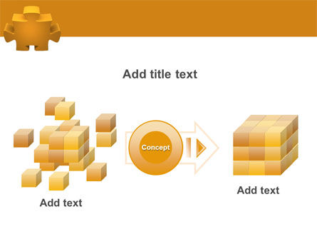 Yellow Jigsaw PowerPoint Template Slide 17