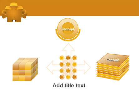Yellow Jigsaw PowerPoint Template Slide 19