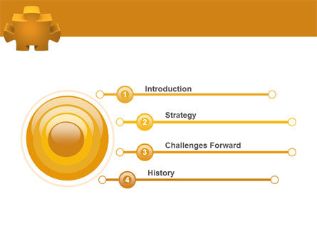 Yellow Jigsaw PowerPoint Template Slide 3