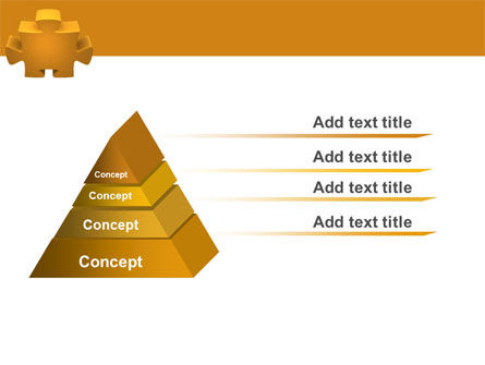 Yellow Jigsaw PowerPoint Template Slide 4