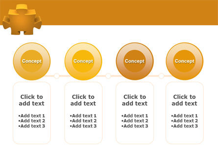 Yellow Jigsaw PowerPoint Template Slide 5