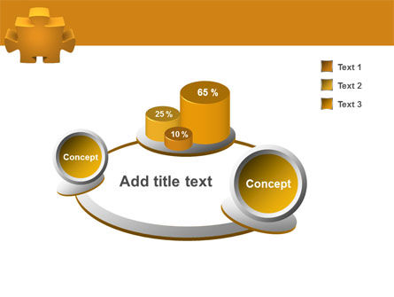 Yellow Jigsaw PowerPoint Template Slide 6