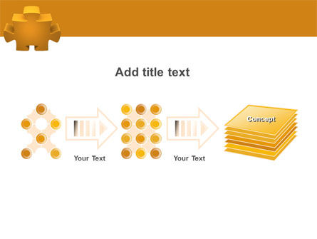 Yellow Jigsaw PowerPoint Template Slide 9