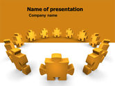 Consulting: Yellow Jigsaw PowerPoint Template #05640