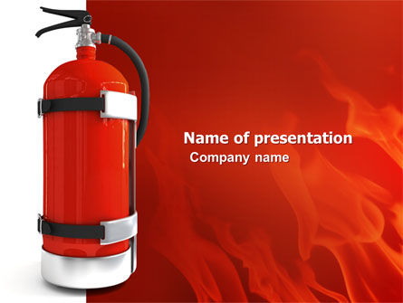 Careers/Industry: Fire Extinguisher PowerPoint Template #05641