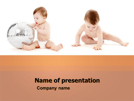 Sweet Babies PowerPoint Template, 05642, Education & Training — PoweredTemplate.com
