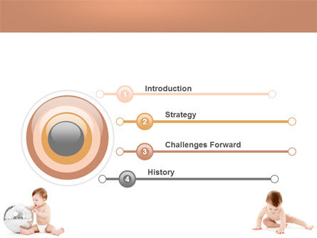 Sweet Babies PowerPoint Template, Slide 3, 05642, Education & Training — PoweredTemplate.com