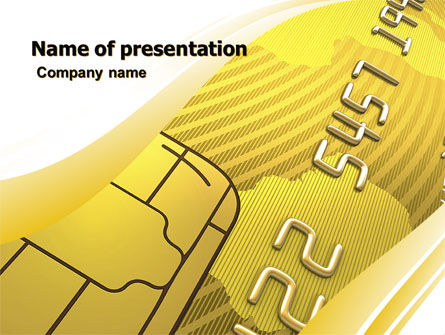Financial/Accounting: Bank Credit Card PowerPoint Template #05643