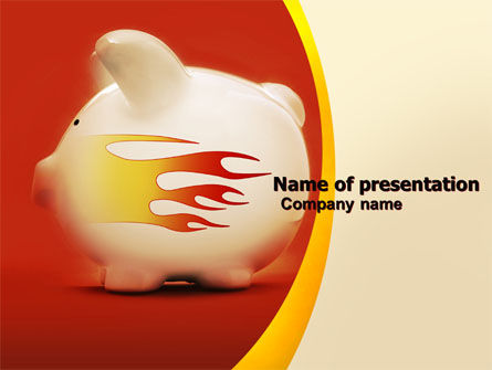 Financial/Accounting: Piggy Bank PowerPoint Template #05644