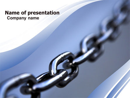 Steel Chain PowerPoint Template