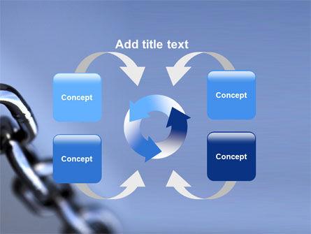 Steel Chain PowerPoint Template Slide 6