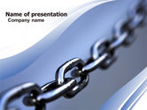 Business Concepts: Steel Chain PowerPoint Template #05646