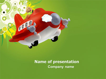 Toy Plane PowerPoint Template, 05648, Education & Training — PoweredTemplate.com