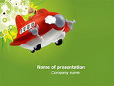 Education & Training: Toy Plane PowerPoint Template #05648