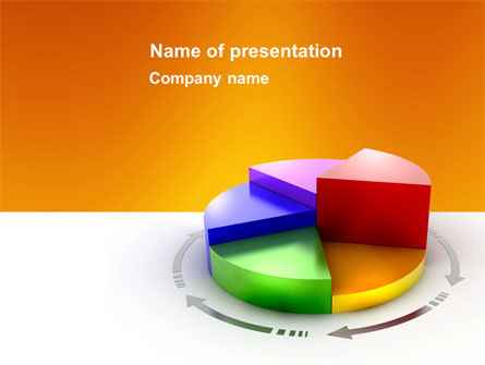3D Pie Diagram PowerPoint Template, 05649, Consulting — PoweredTemplate.com