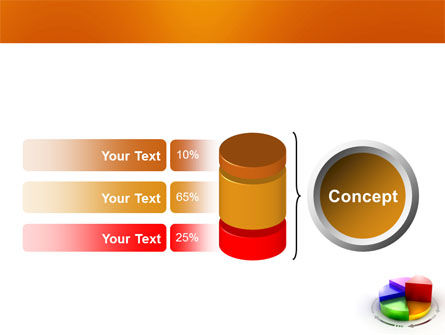 3D Pie Diagram PowerPoint Template Slide 11