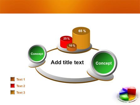 3D Pie Diagram PowerPoint Template Slide 16