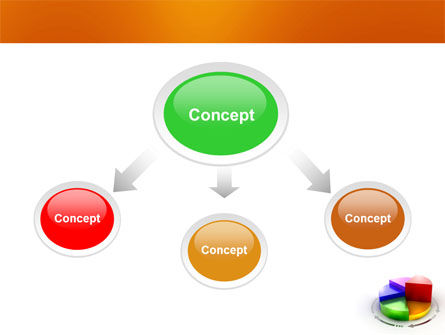 3D Pie Diagram PowerPoint Template, Slide 4, 05649, Consulting — PoweredTemplate.com