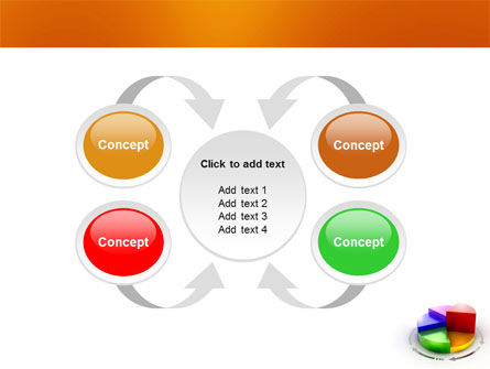 3D Pie Diagram PowerPoint Template Slide 6