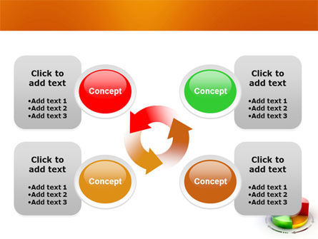 3D Pie Diagram PowerPoint Template Slide 9