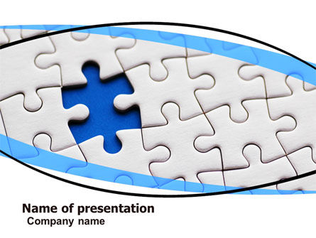 Blue Conundrum PowerPoint Template