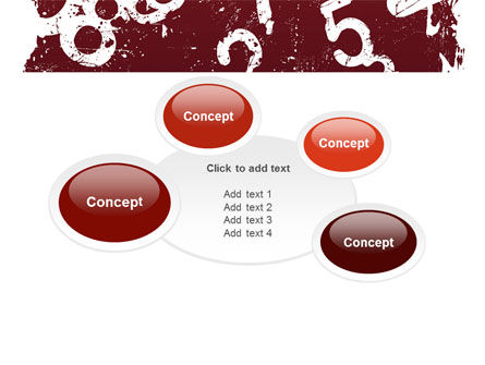Grunge Numbers PowerPoint Template Slide 16