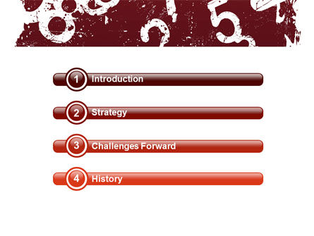 Grunge Numbers PowerPoint Template Slide 3