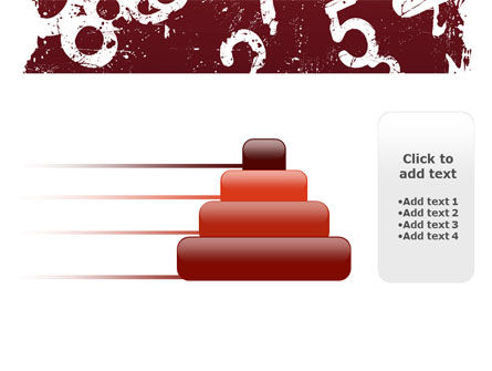 Grunge Numbers PowerPoint Template Slide 8