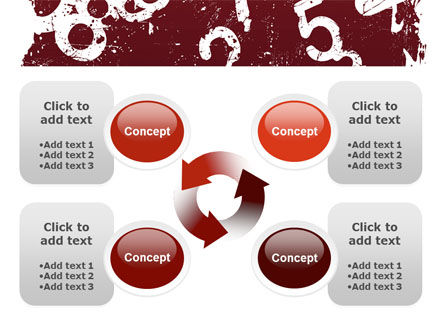 Grunge Numbers PowerPoint Template Slide 9