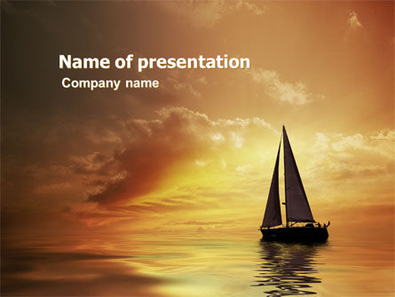 Nature & Environment: Yacht PowerPoint Template #05655