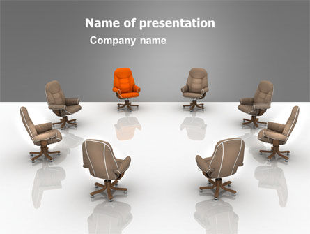 Committee Of Directors PowerPoint Template, 05658, Business — PoweredTemplate.com
