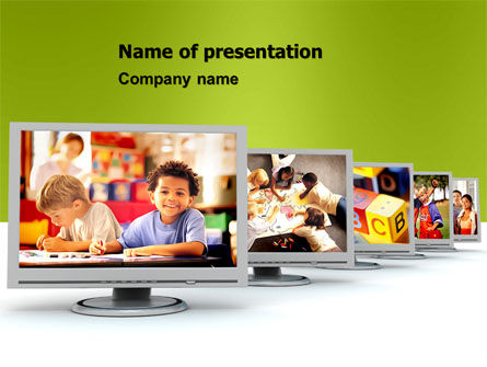 Kids Computer PowerPoint Template, 05659, Education & Training — PoweredTemplate.com