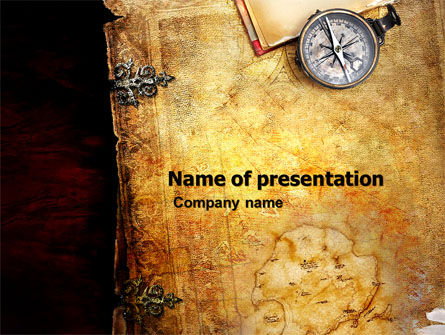 Education & Training: Sea Map PowerPoint Template #05660