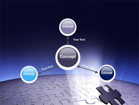 Blue Sphere Jigsaw PowerPoint Template Slide 14