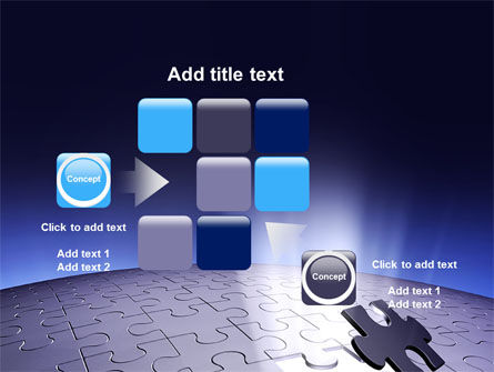 Blue Sphere Jigsaw PowerPoint Template Slide 16