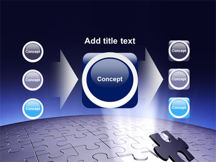 Blue Sphere Jigsaw PowerPoint Template Slide 17